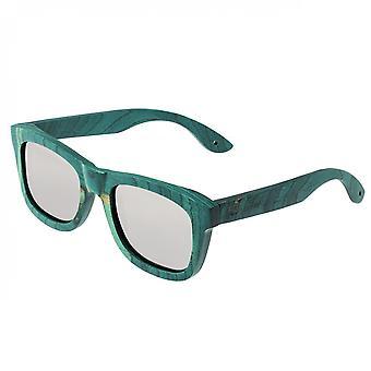 Spektrum Hamilton Holz polarisierte Sonnenbrille - Teal/Silber