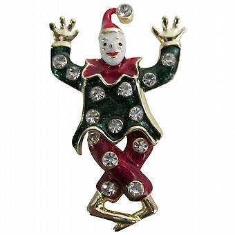 Zirkus lustige süße Clown Brosche lustige Kleidung bunten Modeschmuck