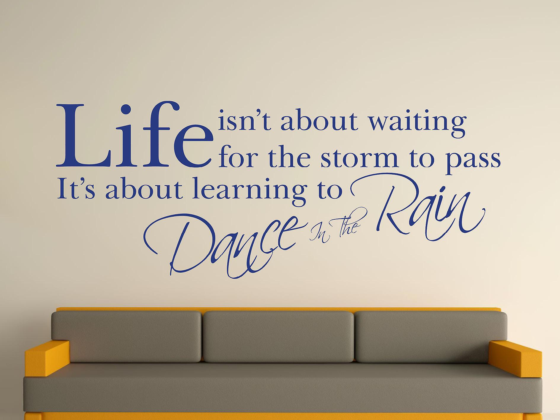 Dance In The Rain Wall Art Sticker - Azure