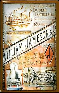 William Jameson Dublin Distillery embossed steel sign