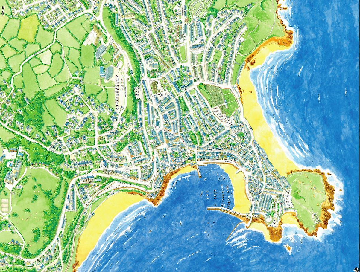 Cityscapes Street Map Of St Ives 400 Piece Jigsaw Puzzle 470mm x 320mm (hpy)