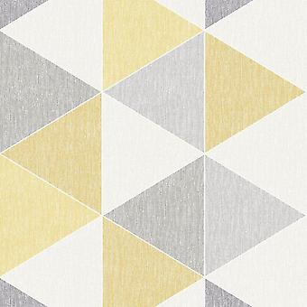 Yellow Scandi Triangle Wallpaper Apex Modern Luxury Abstract Geometric Arthouse