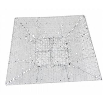Glitter Wire Mesh Centre Plate 30cm Square Silver Pack Of 2 - (XA4567D)
