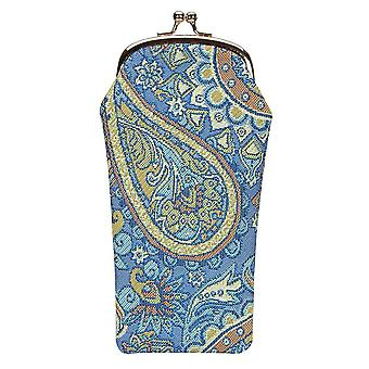 Paisley Glasses Pouch by Signare Tapestry / GPCH-PAIS