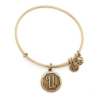 Alex en Ani initiële U Gold Bangle A13EB14UG