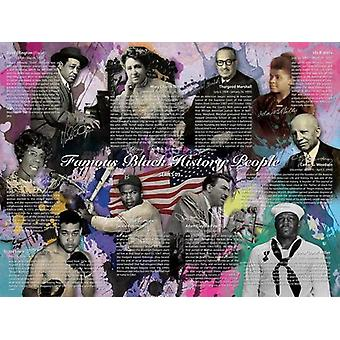 Famous Black History People Poster Series 03 (24x18)
