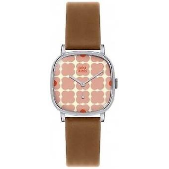 Orla Kiely Iris Brown Leather Strap OK2023 Watch