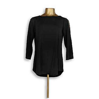 Joan Rivers Classics Collection Women's Top Cold Shoulder Black A299415