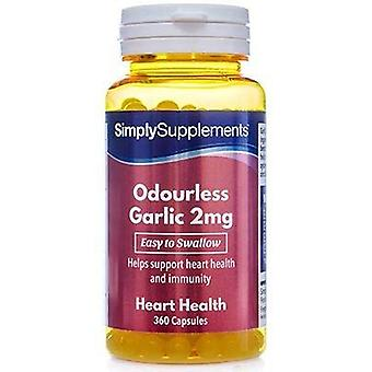 Simply Supplements Odourless Garlic 2mg 360 Capsules