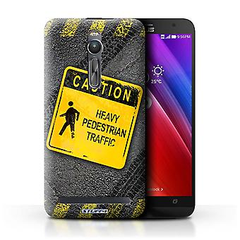 STUFF4 Case/Cover for Asus Zenfone 2 ZE551ML/Heavy Pedestrian/Funny Road Signs