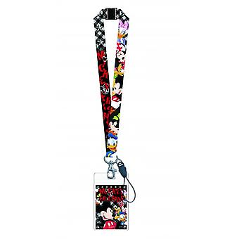 Lanyard - Disney - Mickey & Gang w/Card Holder New 84043