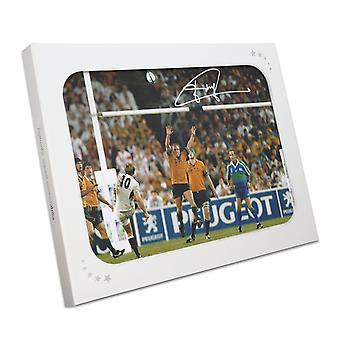 Jonny Wilkinson Signed 2003 Rugby World Cup Photo: The Drop-Kick. In Gift Box