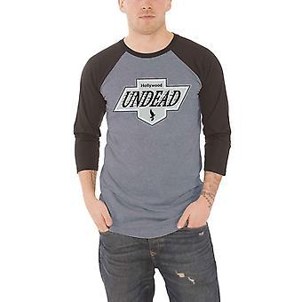 Hollywood Undead honkbal T shirt LA Crest nieuwe officiële mens grijs 3/4 mouw