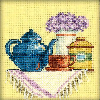 A Cup Of Tea In The Morning Counted Cross Stitch Kit-4