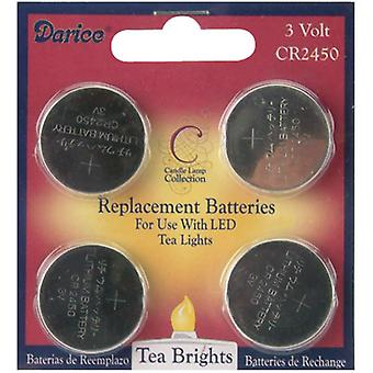 Led Tea Lights Replacement Batteries 4 Pkg 6201 91