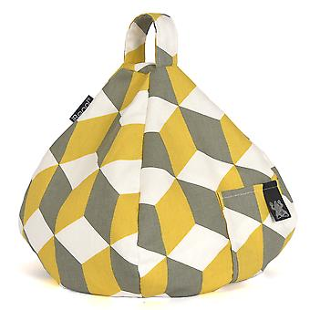 iBeani iPad, Tablet & eReader Bean Bag Stand / Cushion - Cube Yellow