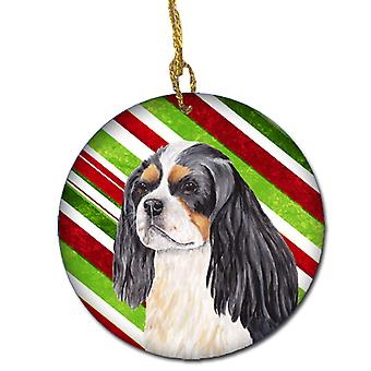 Cavalier Spaniel Candy Cane Holiday Christmas keramiske Ornament SC9351