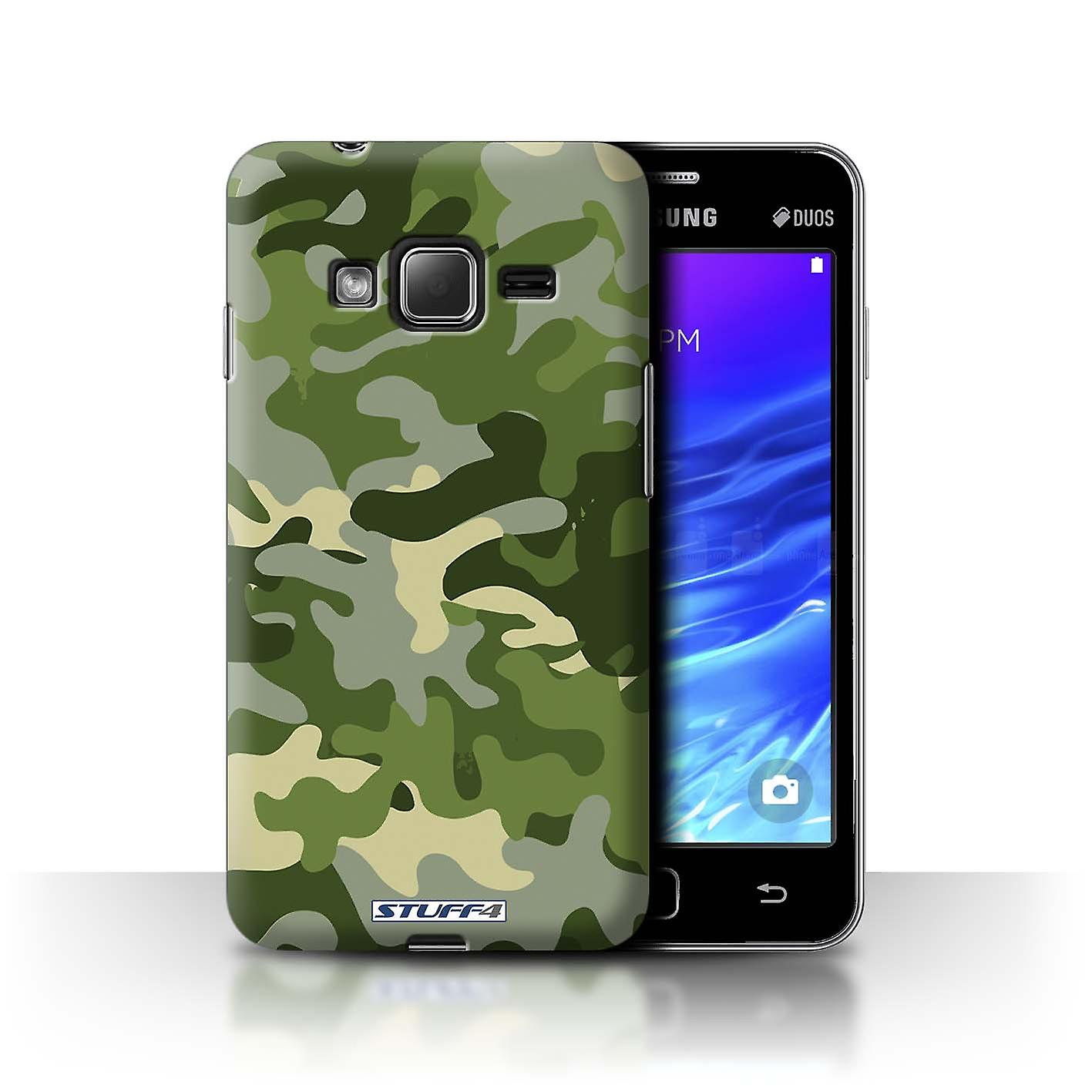 STUFF4 Case/Cover for Samsung Z1/Z130/Green 1/Camouflage Army Navy