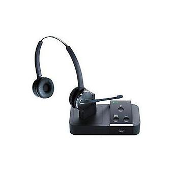 Phone headset DECT Cordless, Mono Jabra PRO™9450 Flex Binaural Over-the-ear Black