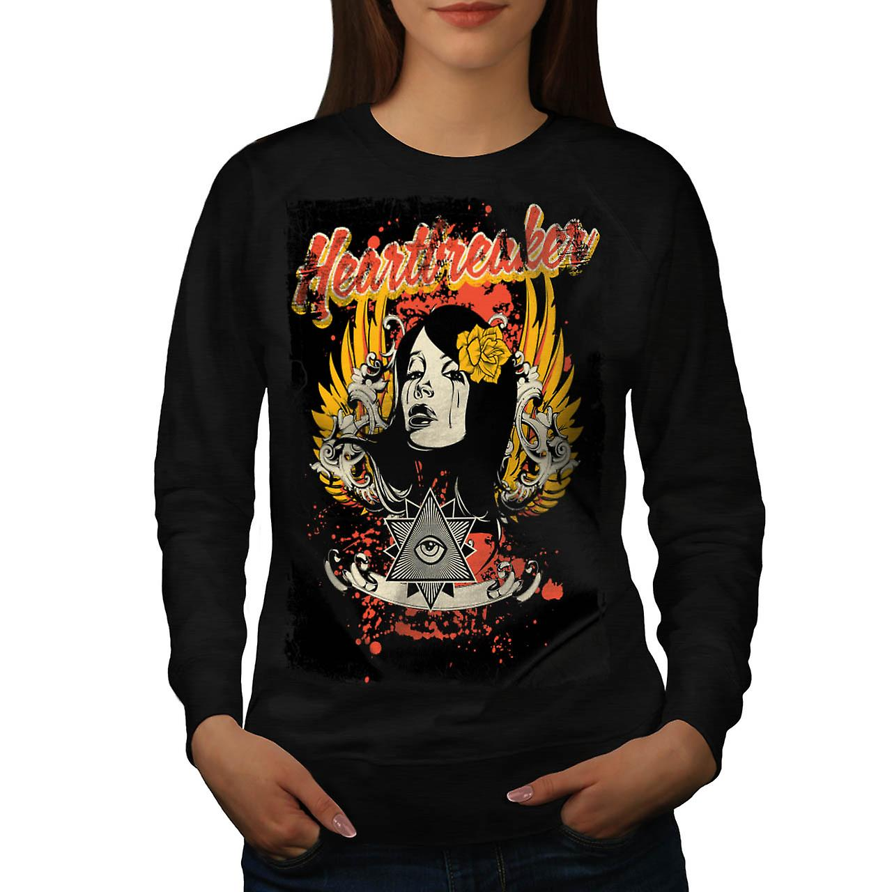 Heart Breaker Society Illuminati Women Black Sweatshirt | Wellcoda