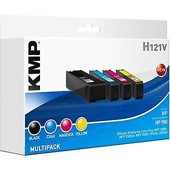 KMP Ink replaced HP D8JxxA (980) Compatible Set Bl