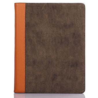 Leather and fabric cover with support-iPad 2 and 3