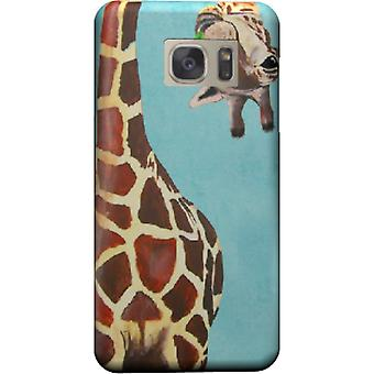 Giraf met blad cover voor Galaxy S6 Edge