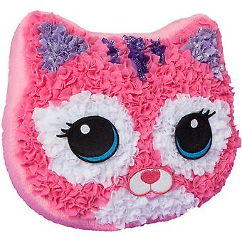 PlushCraft Fabric By Number Kit-Purr-Fect Pillow 67816