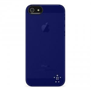 Belkin Shield Sheer Cover Case for iPhone 5 / 5S - Dark Blue