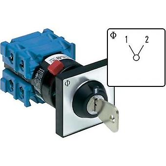 Changeover switch 20 A 1 x 60 ° Grey, Black