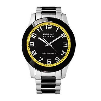 Bering mens watch wristwatch ceramic 33041-727 radio watch stainless steel