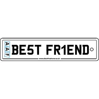 AAF - Best Friend License Plate Car Air Freshener