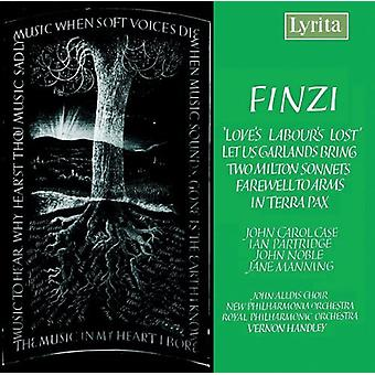 G. Finzi - Finzi: Love's Labours Lost; Let Us Garlands Bring; Two Milton Sonnets; Farewell to Arms; in Terra Pax [CD] USA import