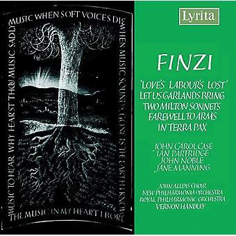 G. Finzi - Finzi: Kærlighedens arbejdsindsats tabt; Lad os bringe guirlander; To Milton sonetter; Farvel til våben; i Terra Pax [CD] USA Importer