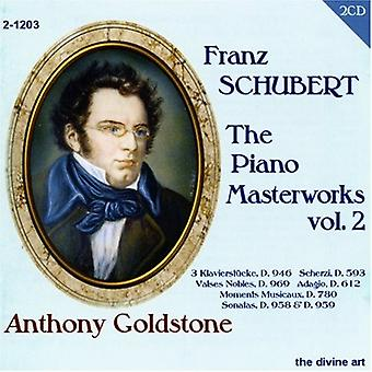 R. Schubert - Schubert: The Piano mesterværker, Vol. 2 [CD] USA import