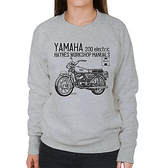 Haynes ejere Workshop Manual Yamaha 200 elektriske kvinders Sweatshirt
