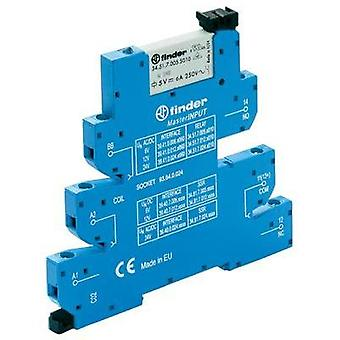 Finder 39.41.0.024.5060 - MasterINPUT Electromechanical Relay Interface Module, EMR, SPDT-CO 250Vac 6A