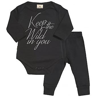 Spoilt Rotten Keep The Wild In You Babygrow & Jersey Trousers Outfit Set