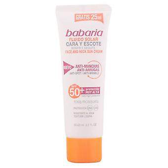 Babaria Solar fluid face and decollete Spf50 2 Pieces