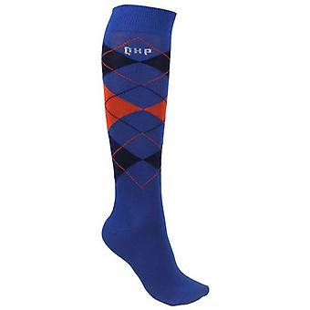 QHP Tangerine Check Socks (Horses , Rider equipment , Clothes , Socks)