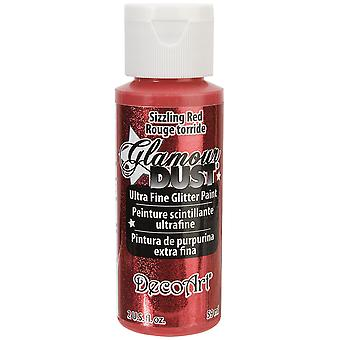 Glamour Dust Glitter Paint 2oz-Sizzling Red DGD-03