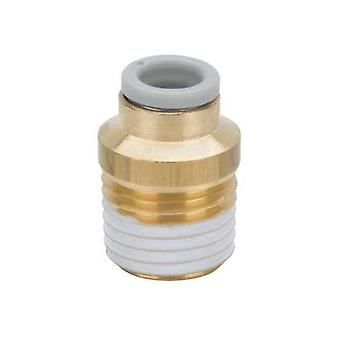 SMC Pneumatic Straight Threaded-To-Tube Adapter, R 1/4 Male, Push In 6 Mm