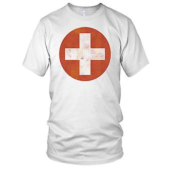 Swiss Air Force Grunge Logo Mens T Shirt