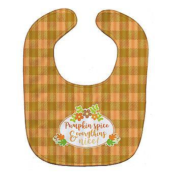 Carolines Treasures  BB6920BIB Fall Pumpkin Spice and Everything Baby Bib