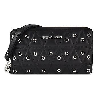Michael Kors Grommets Leather Multi-functional Wallet - Black - 32F7SFDE9O-001