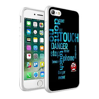 i-Tronixs Samsung Galaxy S8 Do Not Touch My Phone Beware Design Printed Case Skin Cover - 005
