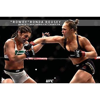 UFC - Ronda Rousey - UFC 190 plakat plakat Print