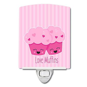 Carolines Schätze BB9127CNL Liebe Muffins Keramik Nachtlicht