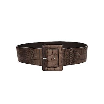Orciani D09699COCCOTMORO Brown ladies leather belt