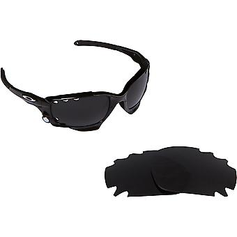VENTED RACING JACKET Replacement Lenses Polarized Grey by SEEK fits OAKLEY